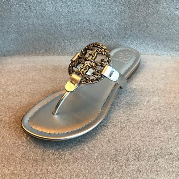 08a94efe5 Tory Burch Miller Embellished Sandal nwot. M 5add3b07a4c48545f4aa7778